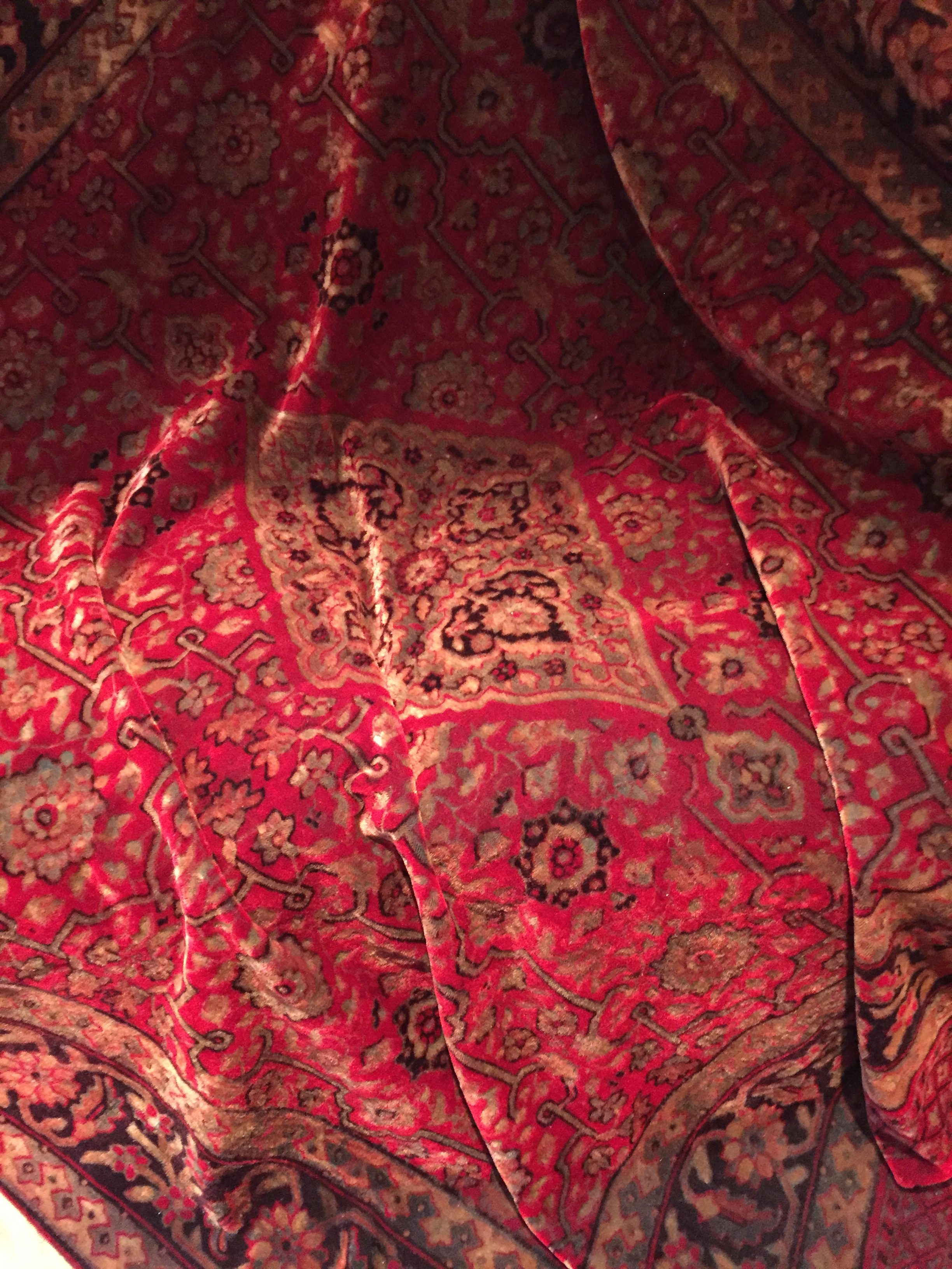 Victorian Chenille Tablecloth Throw ...
